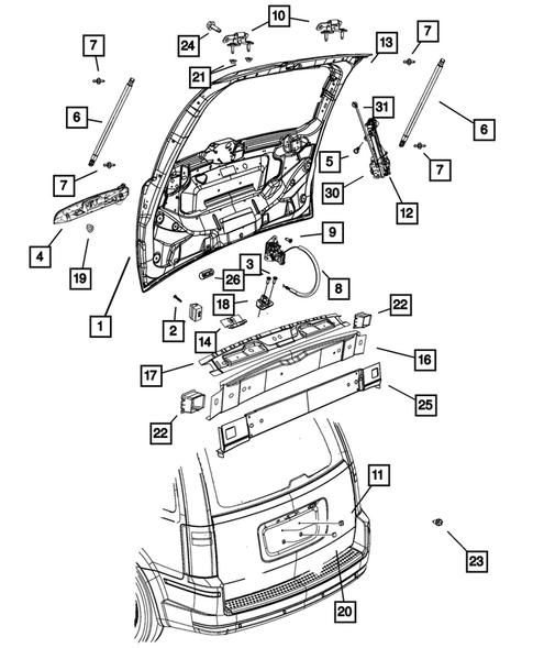 dodge grand caravan parts diagram Liftgate and Tail gate for 1 Dodge Grand Caravan  Thomas Dodge