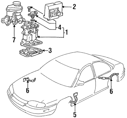 Hydraulic System For 1996 Chevrolet Lumina