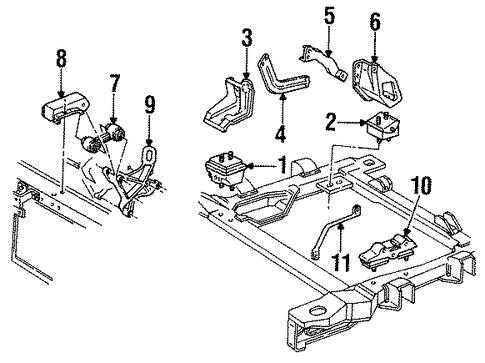 oem 1993 chevrolet lumina engine  u0026 trans mounting parts