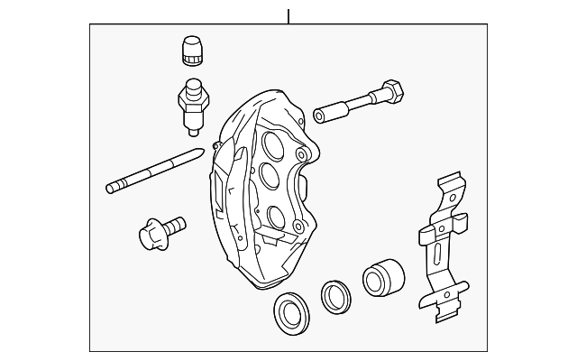 Right Front Brake Caliper, Service Component