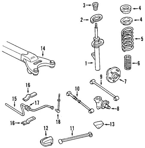 Trailing Arm For 2000 Chrysler 300m Mopar Florida Parts