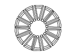 Wheel, Alloy - Mercedes-Benz (172-401-19-00-7X21)
