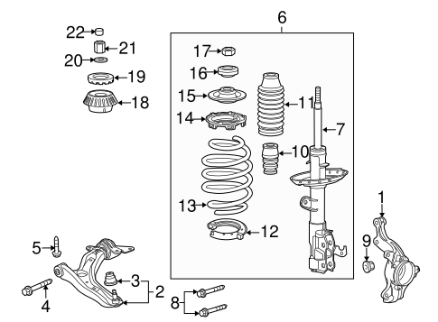 Bearing, Shock Absorber Mounting