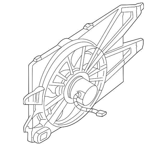 2000 2004 Ford Focus Fan Motor 1s4z 8c607 Dd