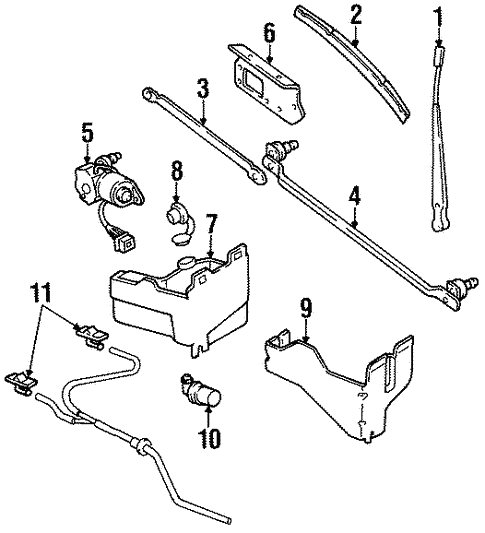 wiper  u0026 washer components for 1994 jeep wrangler