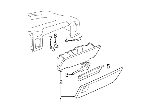 glove box for 1999 chevrolet silverado 1500. Black Bedroom Furniture Sets. Home Design Ideas