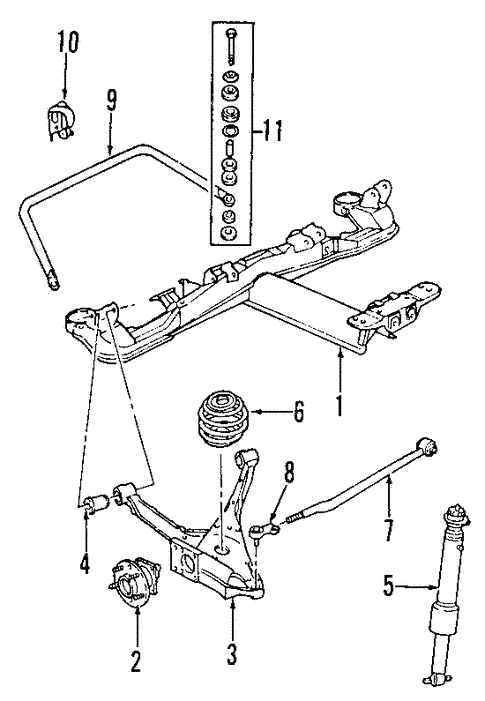 rear suspension for 2000 cadillac seville