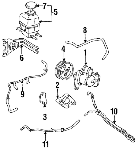 STEERING/PUMP & HOSES for 1996 Toyota Camry #1