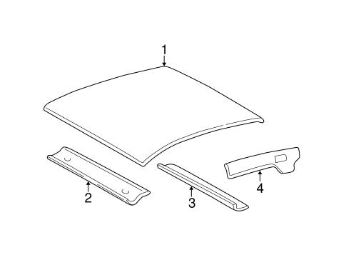oem 2003 chevrolet monte carlo roof components parts. Black Bedroom Furniture Sets. Home Design Ideas