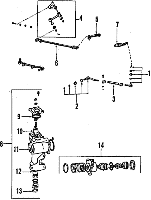 steering/steering gear & linkage for 1994 toyota t100