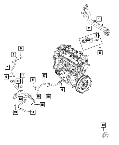 Water Pump and Related Parts for 2019 Fiat 124 Spider #0
