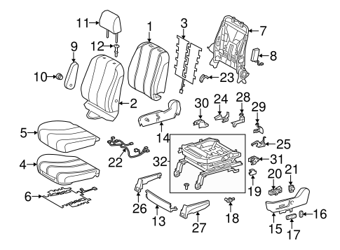BODY/FRONT SEAT COMPONENTS for 2012 Toyota Sienna #2