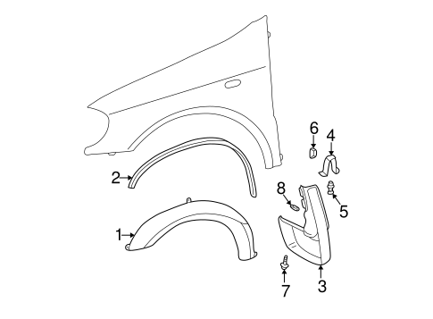 Exterior Trim - Fender for 2003 Mercedes-Benz ML 320 #0