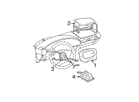 Air Bag Components for 1997 Chevrolet Malibu #0
