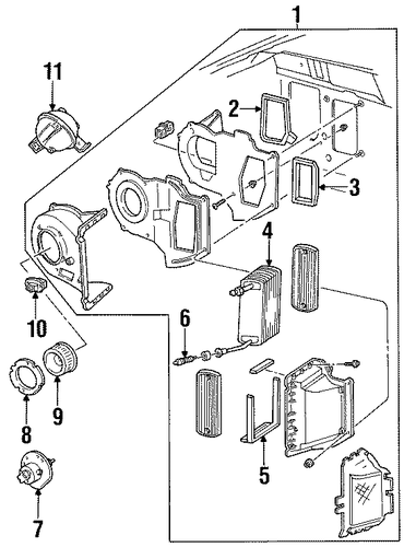 evaporator components for 1996 ford ranger