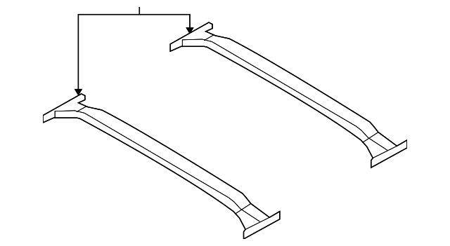 HYUNDAI Genuine 87290-2B000-5T Cross Roof Rack Bar