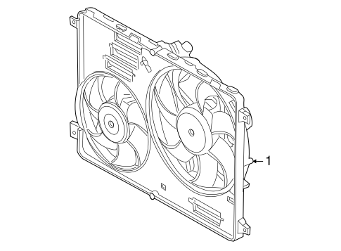 Cooling Fan For 2008 Land Rover Lr2