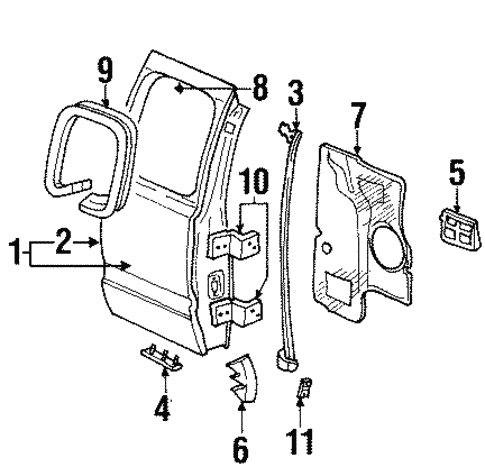 Lock Hardware For 2000 Dodge Ram 1500