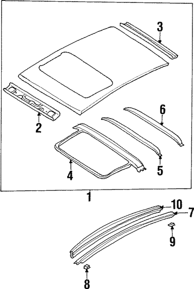 1999 2001 Infiniti Q45 Drip Molding 73854 6p068