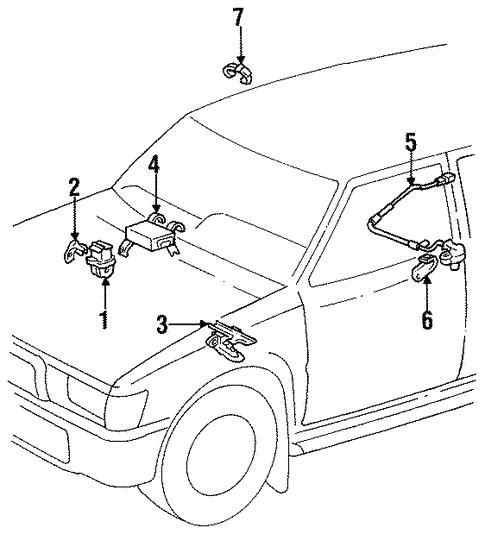 Genuine Oem Anti Lock Brakes Parts For 1994 Toyota 4runner Sr5