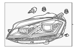 Headlamp Assembly - Volkswagen (5GM-941-077-A)