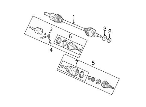 drive axles parts for 2004 saturn vue gm parts club. Black Bedroom Furniture Sets. Home Design Ideas