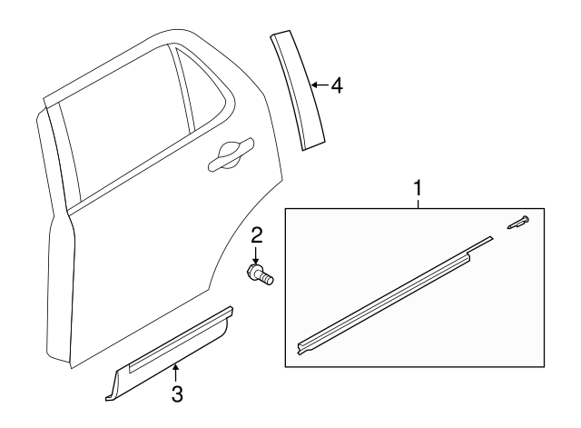 Genuine Ford Lower Molding FB5Z-7825557-BA