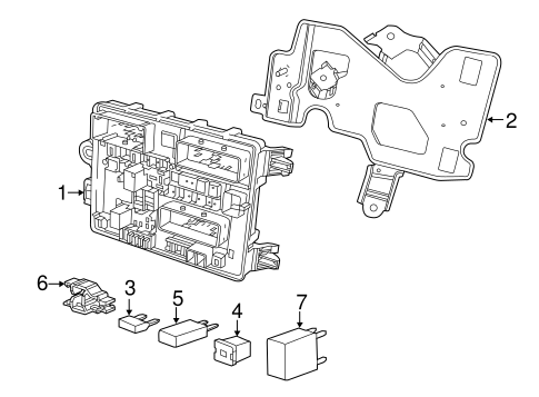 Oem 2014 Chevrolet Ss Fuse Relay Parts