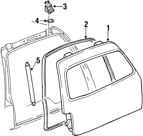 Liftgate For 1999 Lincoln Navigator