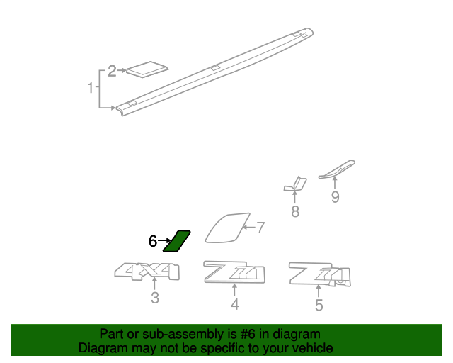 GM OEM Pick Up Box Bed-Stone Deflector Guard Left 15952187