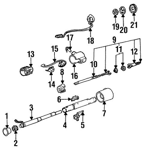Steering Column For 1990 Oldsmobile Cutlass Ciera