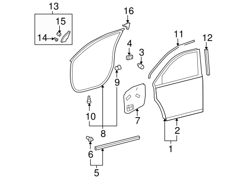 BODY/DOOR & COMPONENTS for 2010 Toyota Highlander #3
