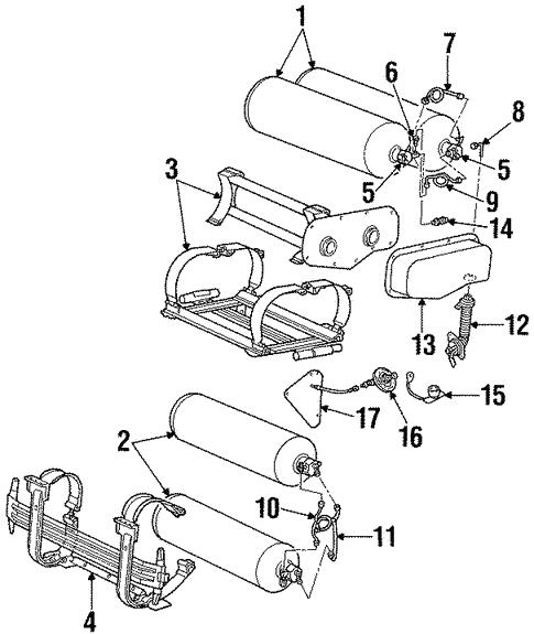 Ford Bracket Vapor Canister XW1Z-9D665-AA Motorcraft Engine