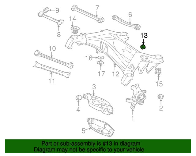 Suspension cross member rubber mount mercedes benz 129 for Mercedes benz suspension parts