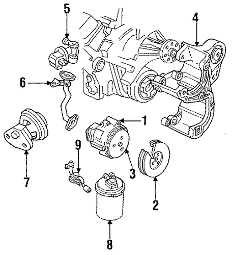 fuel system components parts for 1993 cadillac fleetwood