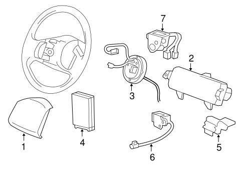Air Bag Components For 2008 Ford F 150