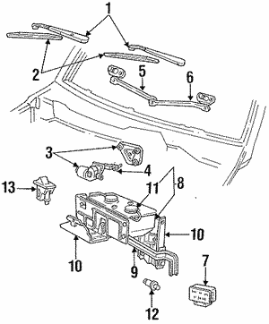 windshield washer pumps silver state ford parts Ford F-350 Wiring Schematic pump