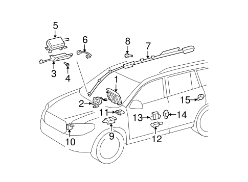 ELECTRICAL/AIR BAG COMPONENTS for 2010 Toyota Highlander #1