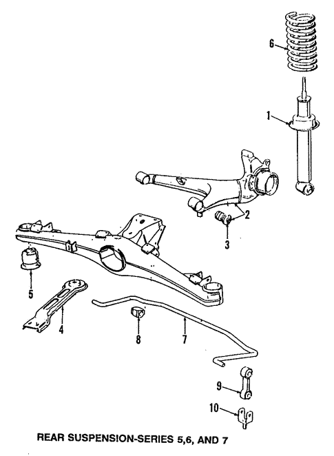Rear Suspension for 1993 BMW 525iT #1