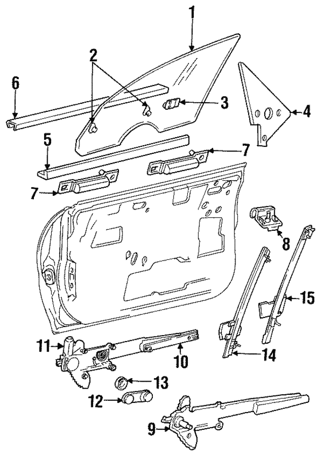 Dodge Neon Window Regulator Diagram