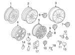 Wheel, Alloy - Volkswagen (1K0-601-025-AG-16Z)