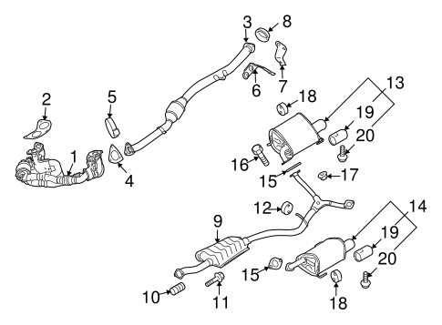 Exhaust Components for 2009 Subaru Forester   Subaru ...