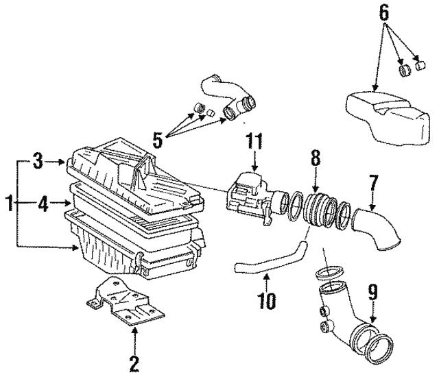 1991 1995 toyota mr2 mass air flow sensor 22250 74220 lynch toyota Air Flow Sensor PCB mass air flow sensor toyota 22250 74220