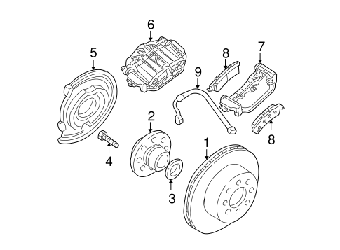 Oem 2004 Cadillac Escalade Rear Brakes Parts