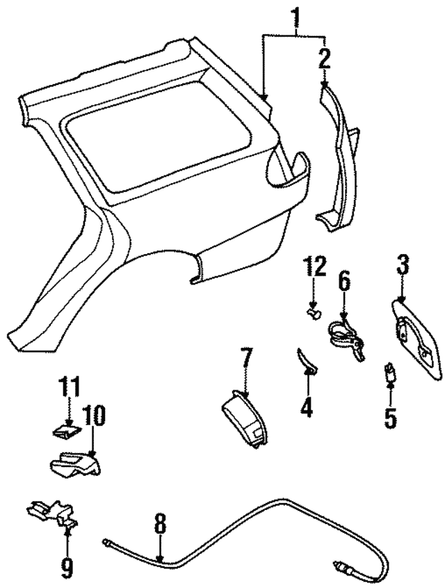 1995 1999 Subaru Legacy Release Cable 57330ac030