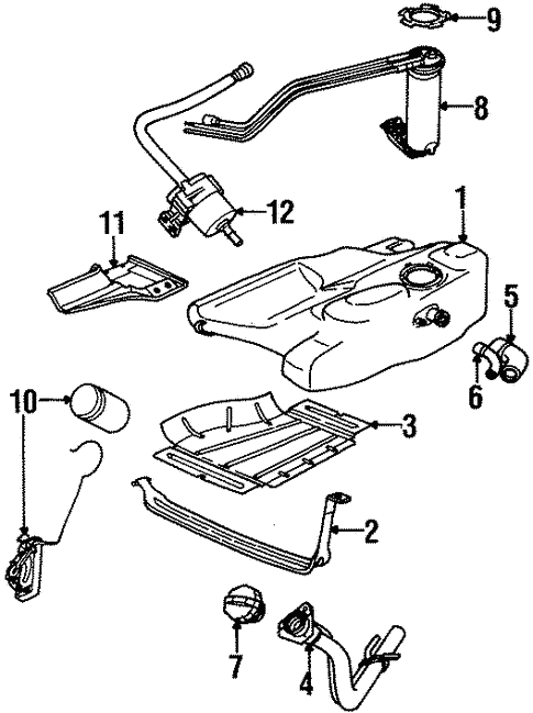 Fuel System Components For 1997 Saturn Sc1