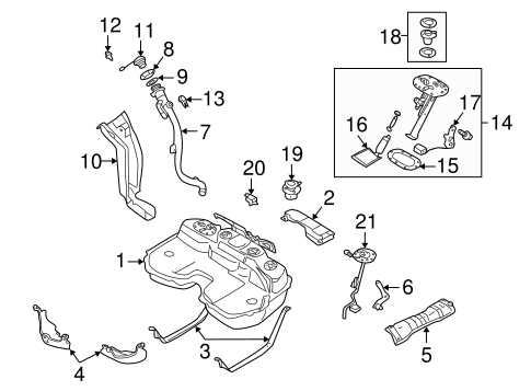 Fuel System Components For 2005 Saab 9 2x