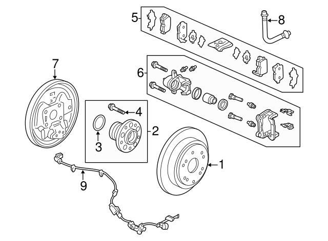 2015 2016 Honda Odyssey 5 Door Disk Rear Brake Drum Inner 42510