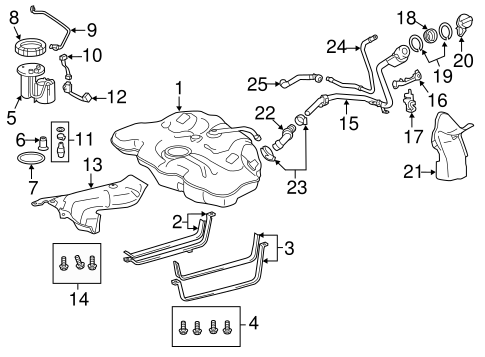 Fuel System Components For 2013 Scion Tc