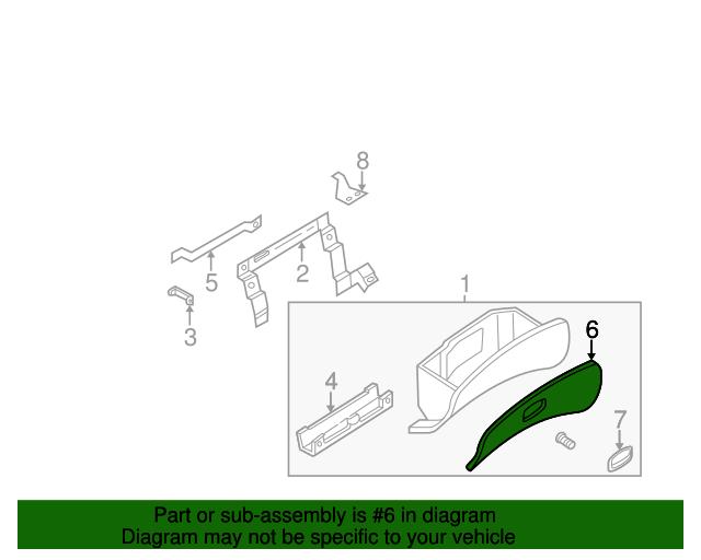Genuine Hyundai 84512-22000-FK Glove Box Housing Cover Assembly